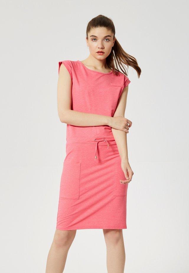 Shift dress - mélange rose