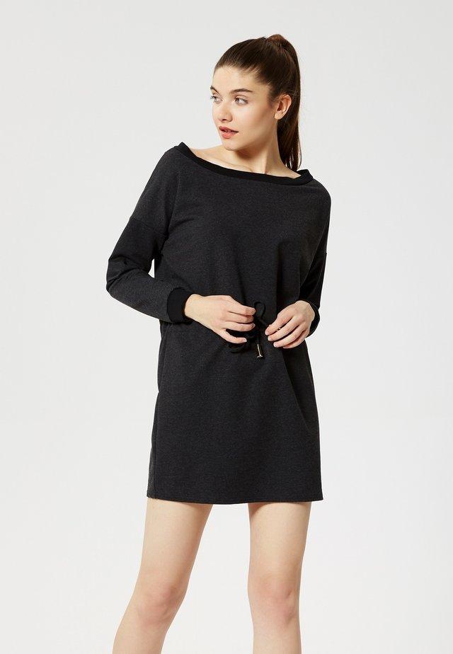Gebreide jurk - gris fonc