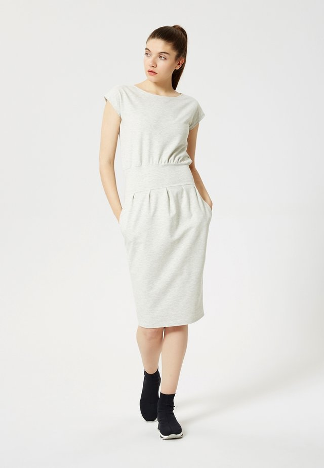 Shift dress - mélange beige