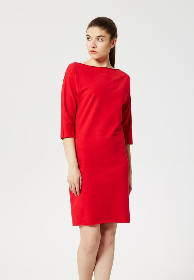 Jersey dress - rouge