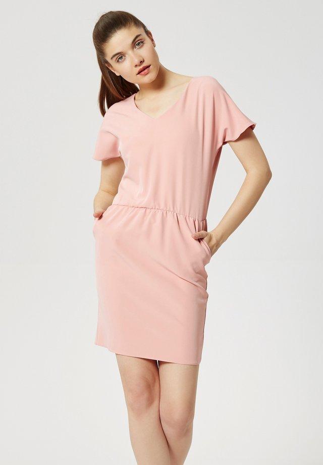 Korte jurk - dreckiges pink