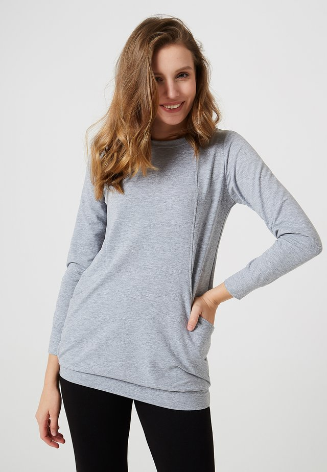 Sweatshirt - gris mélangé