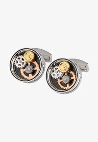 Tateossian - GEAR CARBON  - Manžetové knoflíčky - silver - 1