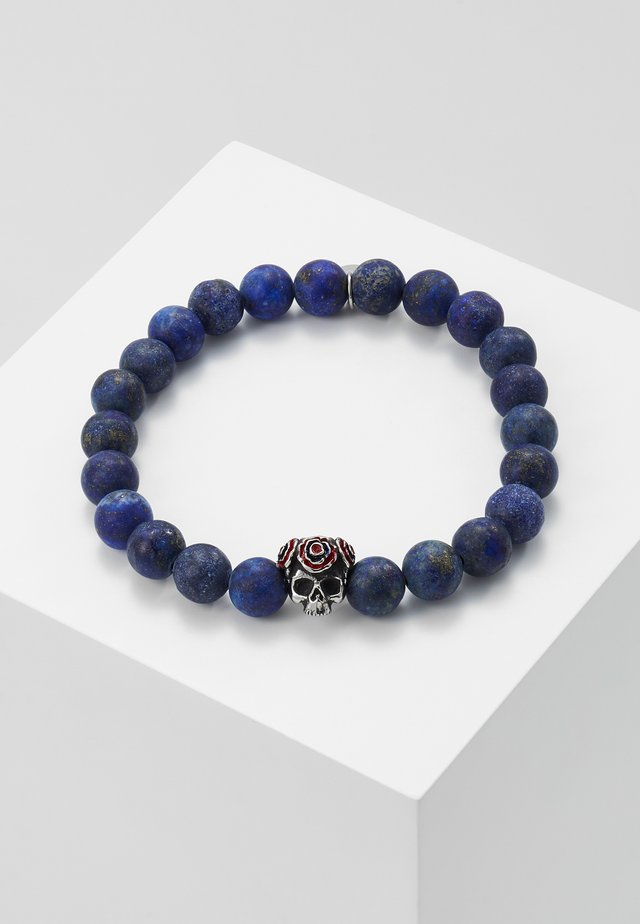 SKULL GEAR WITH SEMI PRECIOUS STONE - Náramek - blue