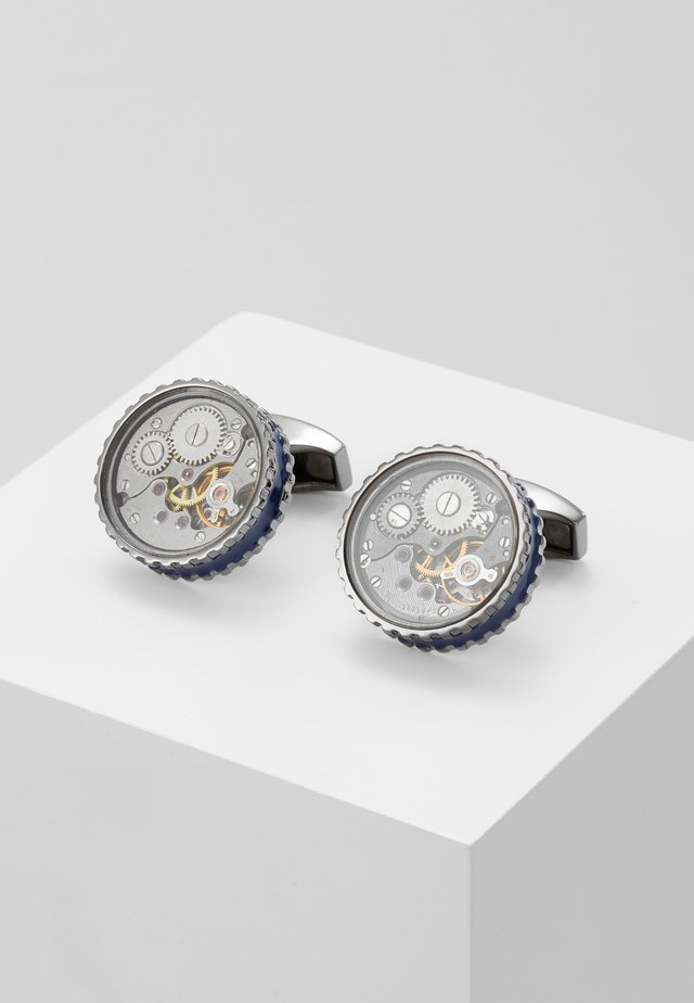ROUND SKELETON GEAR - Cufflinks - gunmetal