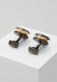 Tateossian - PANORAMA PRECIOUS LEAF - Manžetové knoflíčky - gunmetal - 2