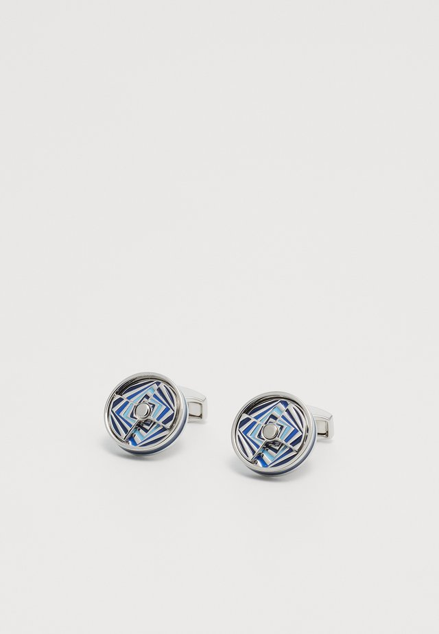 MIRAGE - Boutons de manchette - silver-coloured/blue