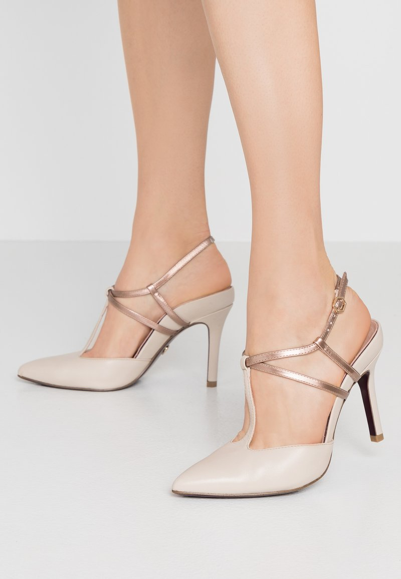 Tamaris Heart & Sole - High heels - ivory/copper
