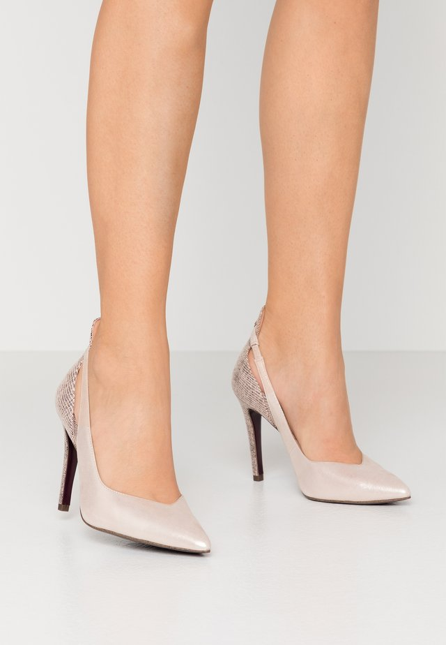 COURT SHOE - Højhælede pumps - champagne
