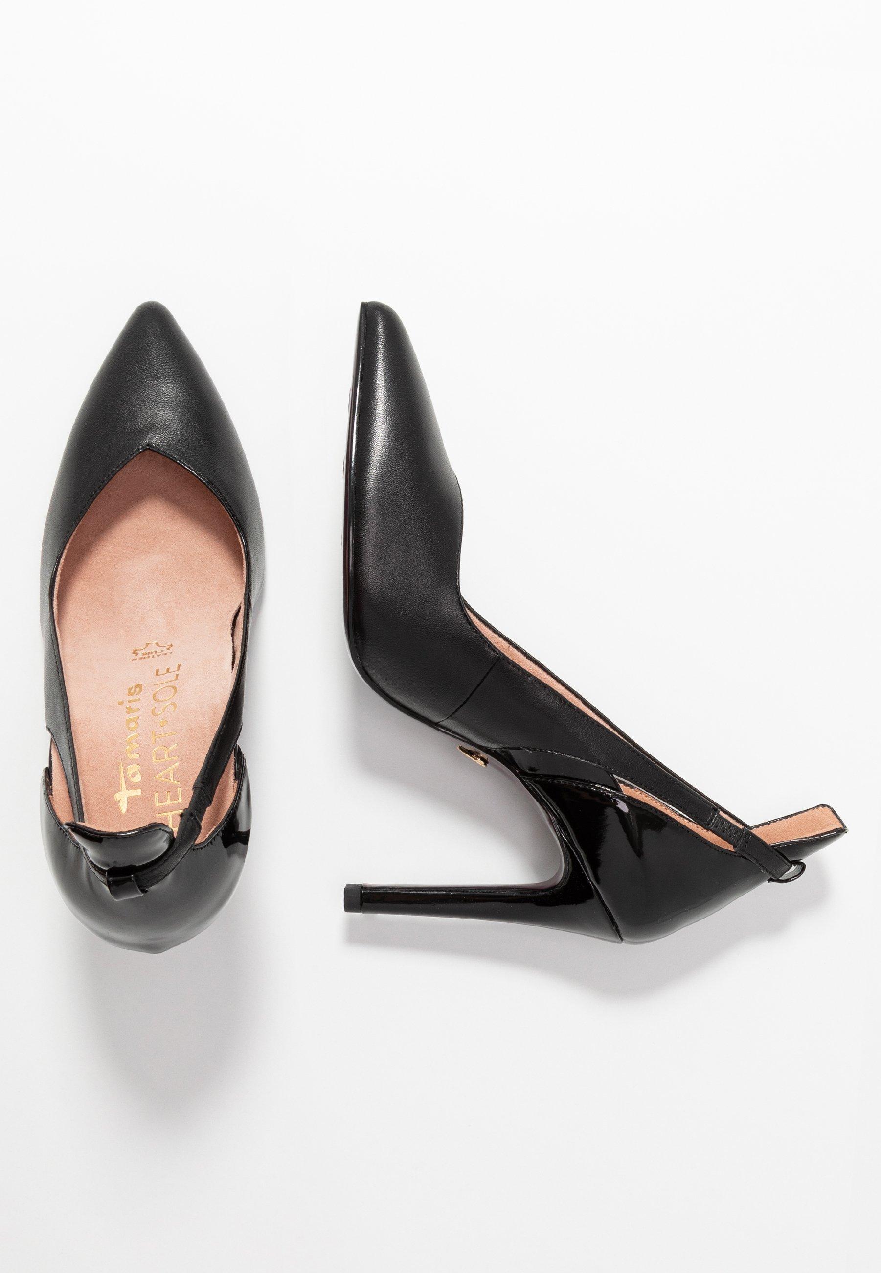 Tamaris Heart & Sole Court Shoe - Klassiska Pumps Black