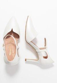 Tamaris Heart & Sole - Hoge hakken - white pearl - 3