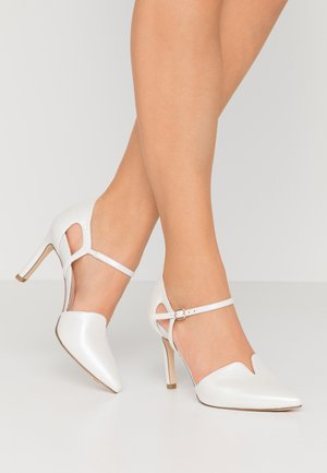 High Heel Pumps - white pearl