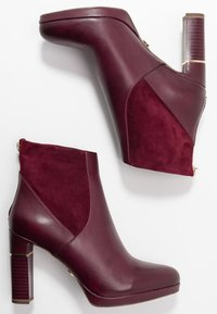 Tamaris Heart & Sole - High heeled ankle boots - bordeaux - 3