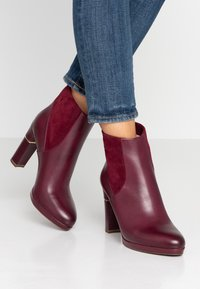 Tamaris Heart & Sole - High heeled ankle boots - bordeaux - 0
