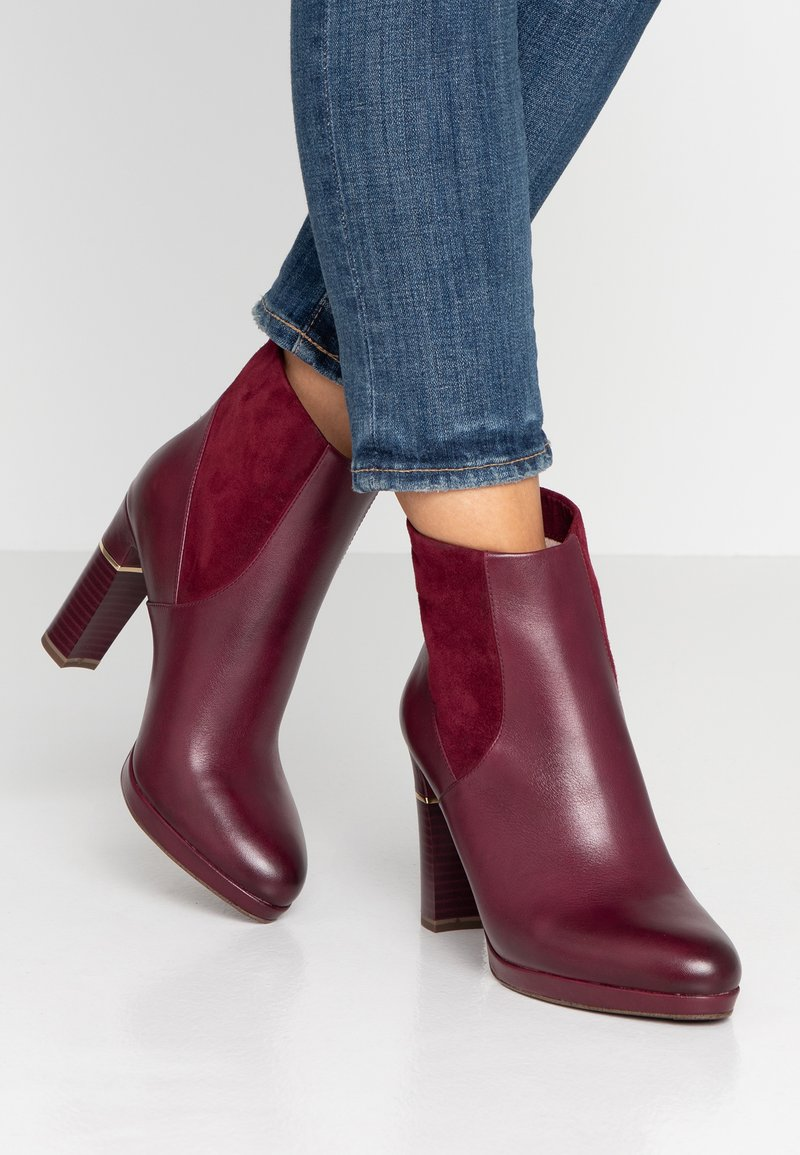 Tamaris Heart & Sole - High heeled ankle boots - bordeaux
