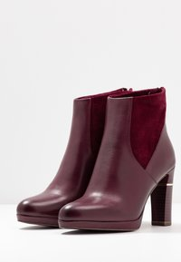 Tamaris Heart & Sole - High heeled ankle boots - bordeaux - 4