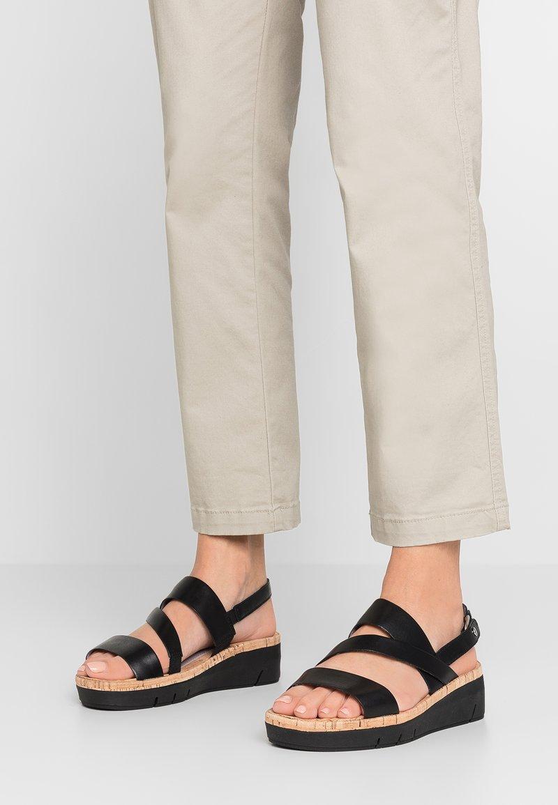 Tamaris Pure Relax - Wedge sandals - black