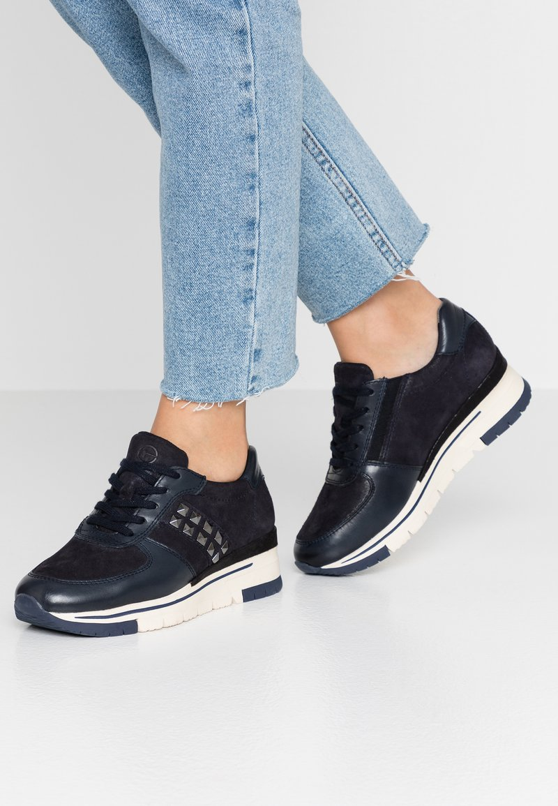 Tamaris Pure Relax - Sneaker low - navy/metallic
