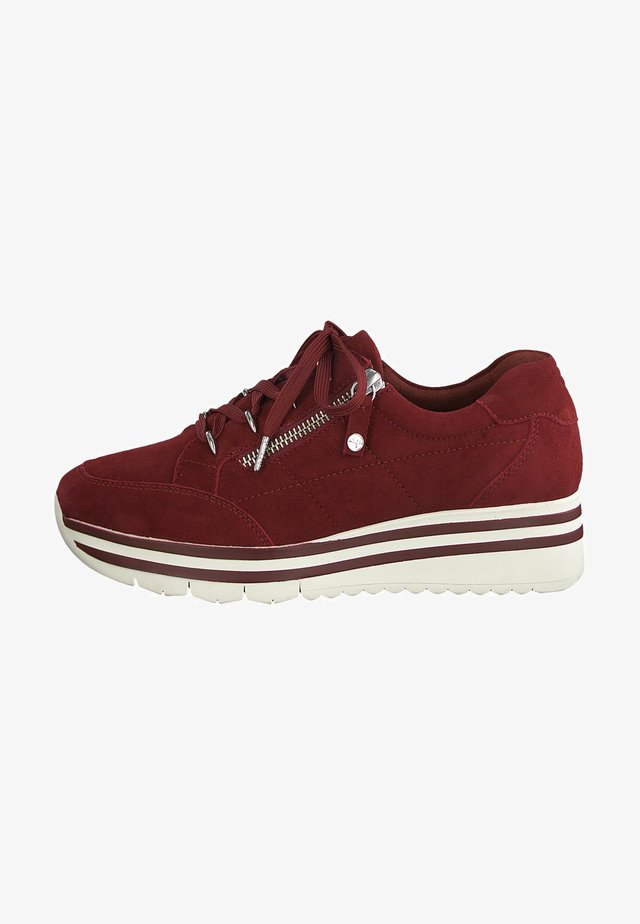 LACE UP - Trainers - scarlet suede