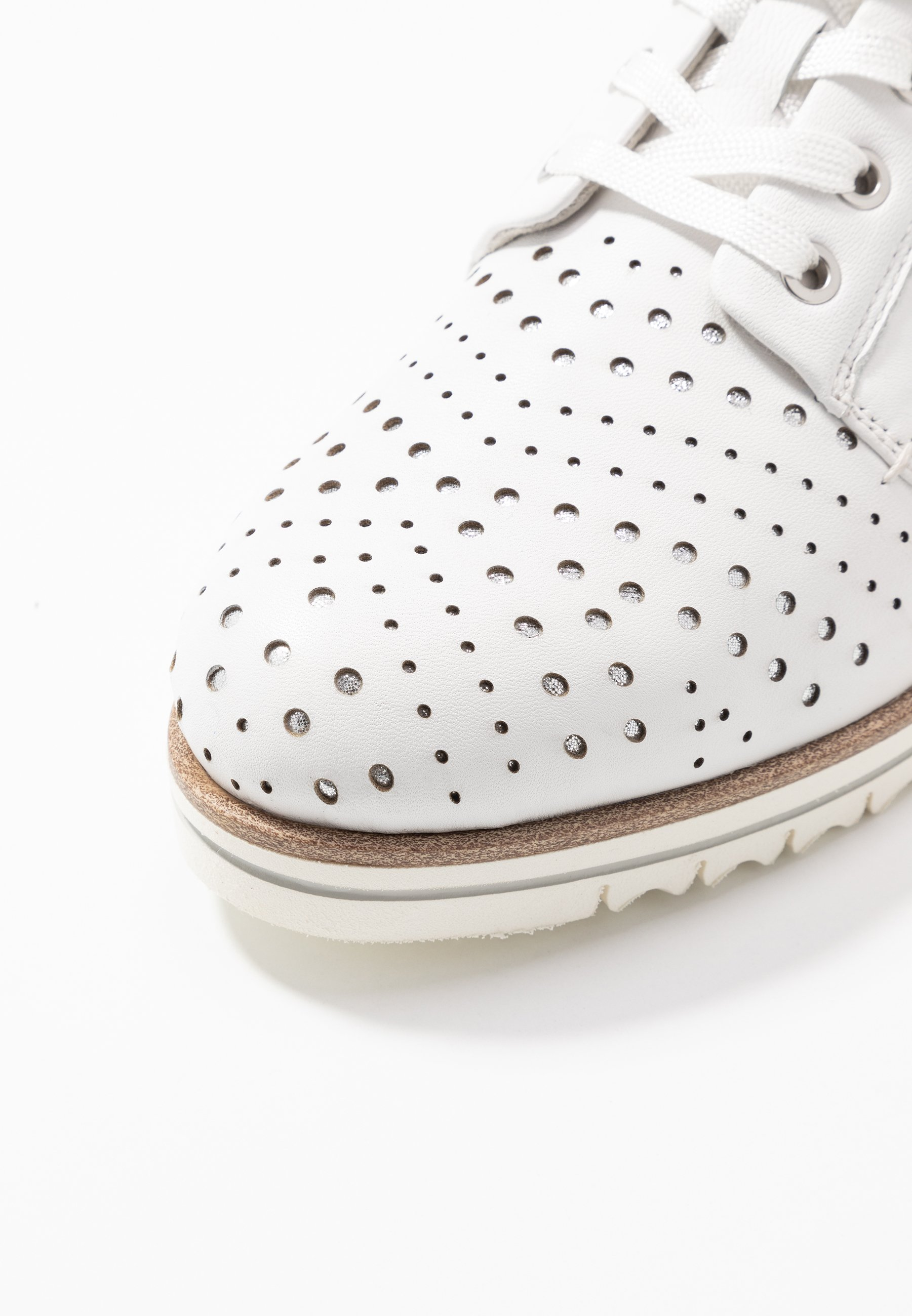 Tamaris Pure Relax WOMS LACE-UP - Sporty snøresko - white/punch