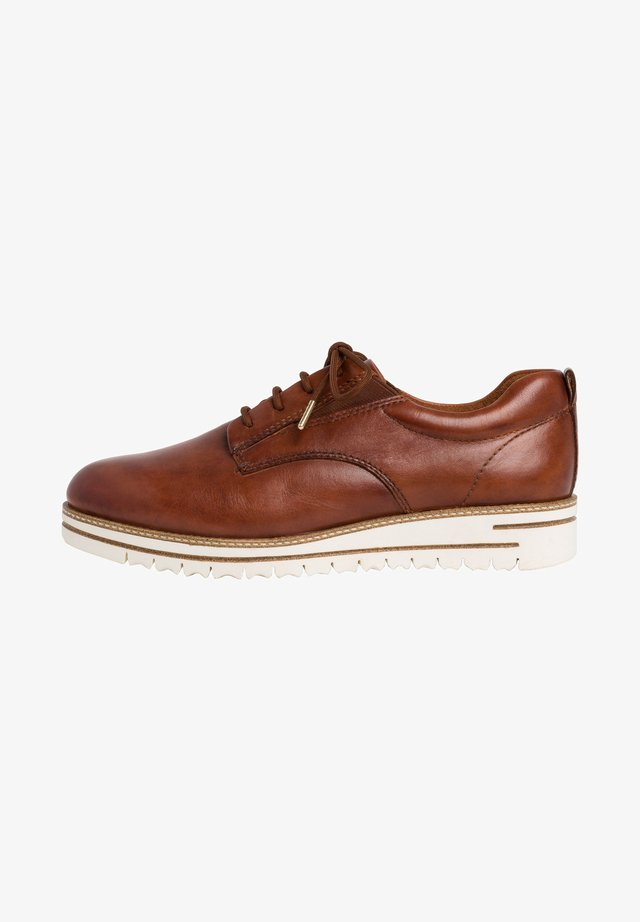 WOMS LACE-UP - Casual lace-ups - brown