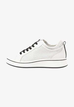 LACE-UP - Baskets basses - white/black