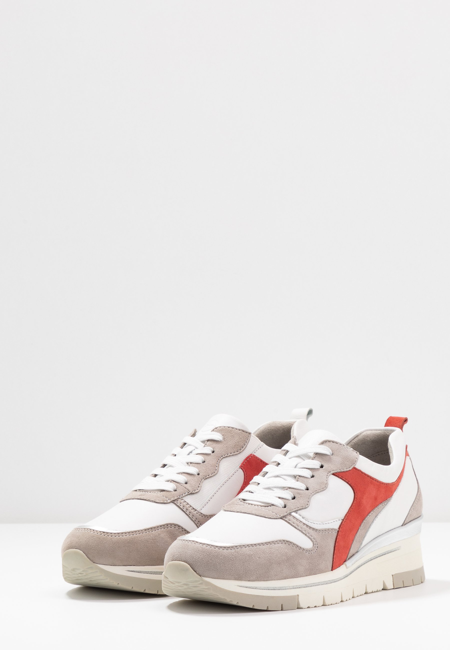 Tamaris Pure Relax LACE-UP - Sneakersy niskie - white/light grey