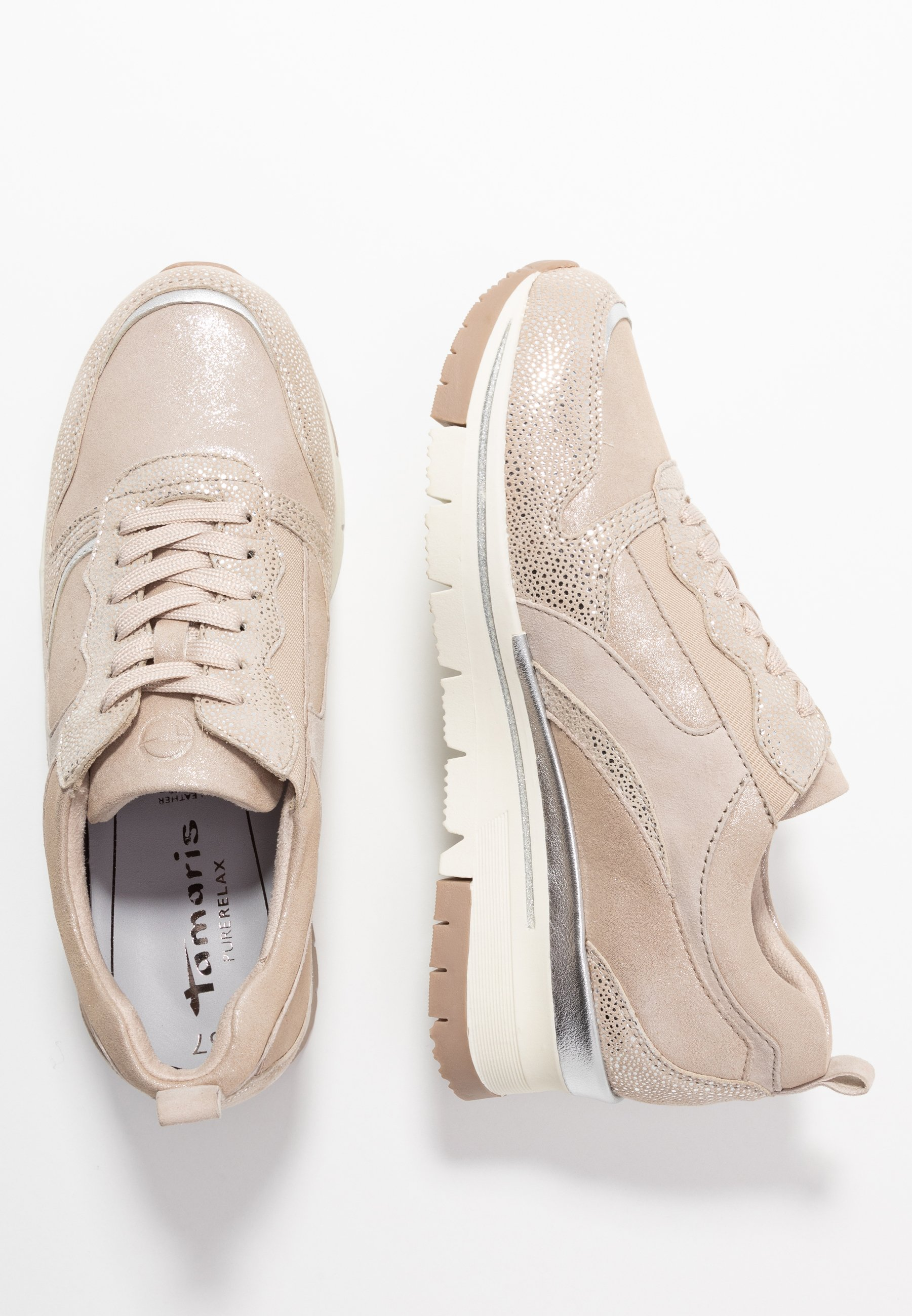 Tamaris Pure Relax LACE-UP - Sneakersy niskie - champagne
