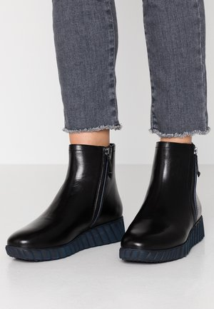 Bottines compensées - black/navy