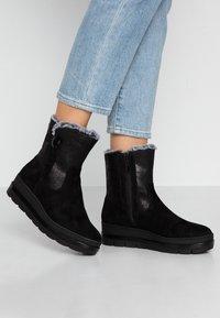 Tamaris Pure Relax - Platform ankle boots - black - 0
