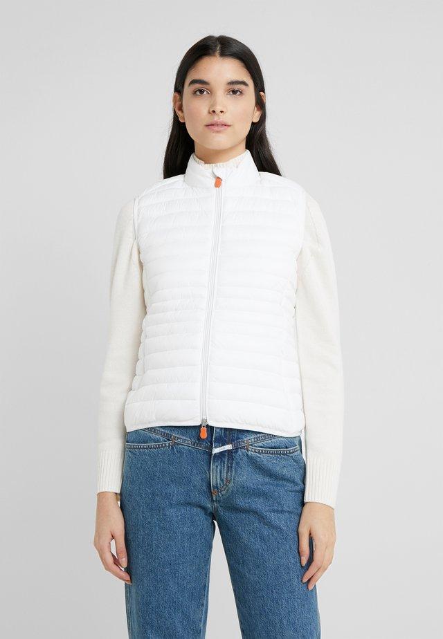 GIGAX - Vest - coconut white