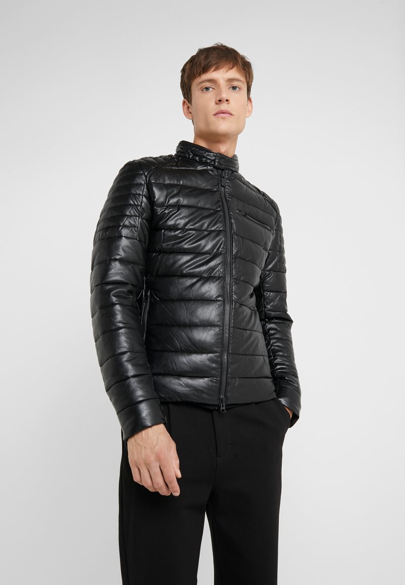 Save the duck - SKIN - Faux leather jacket - black