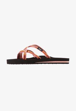 OLOWAHU - T-bar sandals - sari ribbon apricot