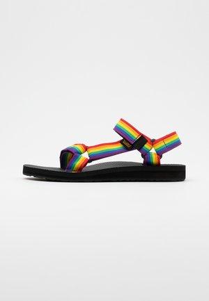 ORIGINAL UNIVERSAL WOMENS - Walking sandals - rainbow/black