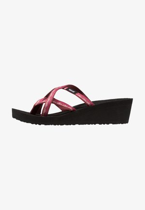 MUSH MANDALYN WEDGE OLA 2 - Sandalias de dedo - chisolm port red