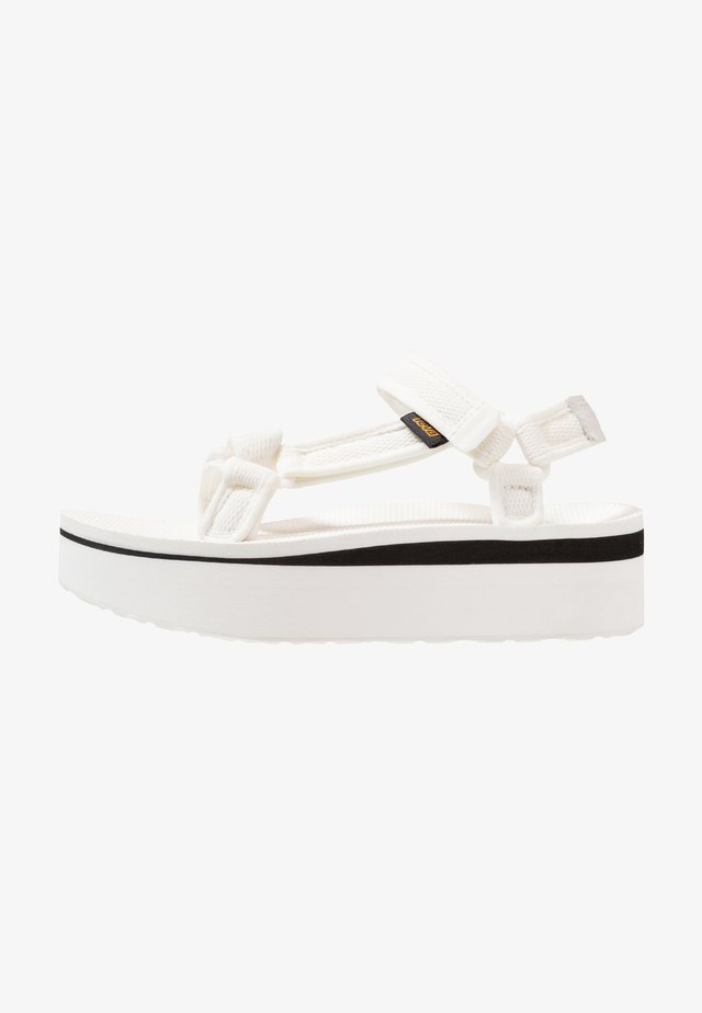 FLATFORM PRINT - Walking sandals - bright white