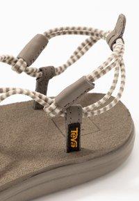Teva - VOYA INFINITY STRIPE - Walking sandals - birch/brindle - 5