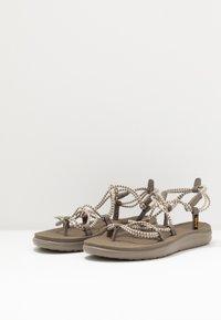 Teva - VOYA INFINITY STRIPE - Walking sandals - birch/brindle - 2