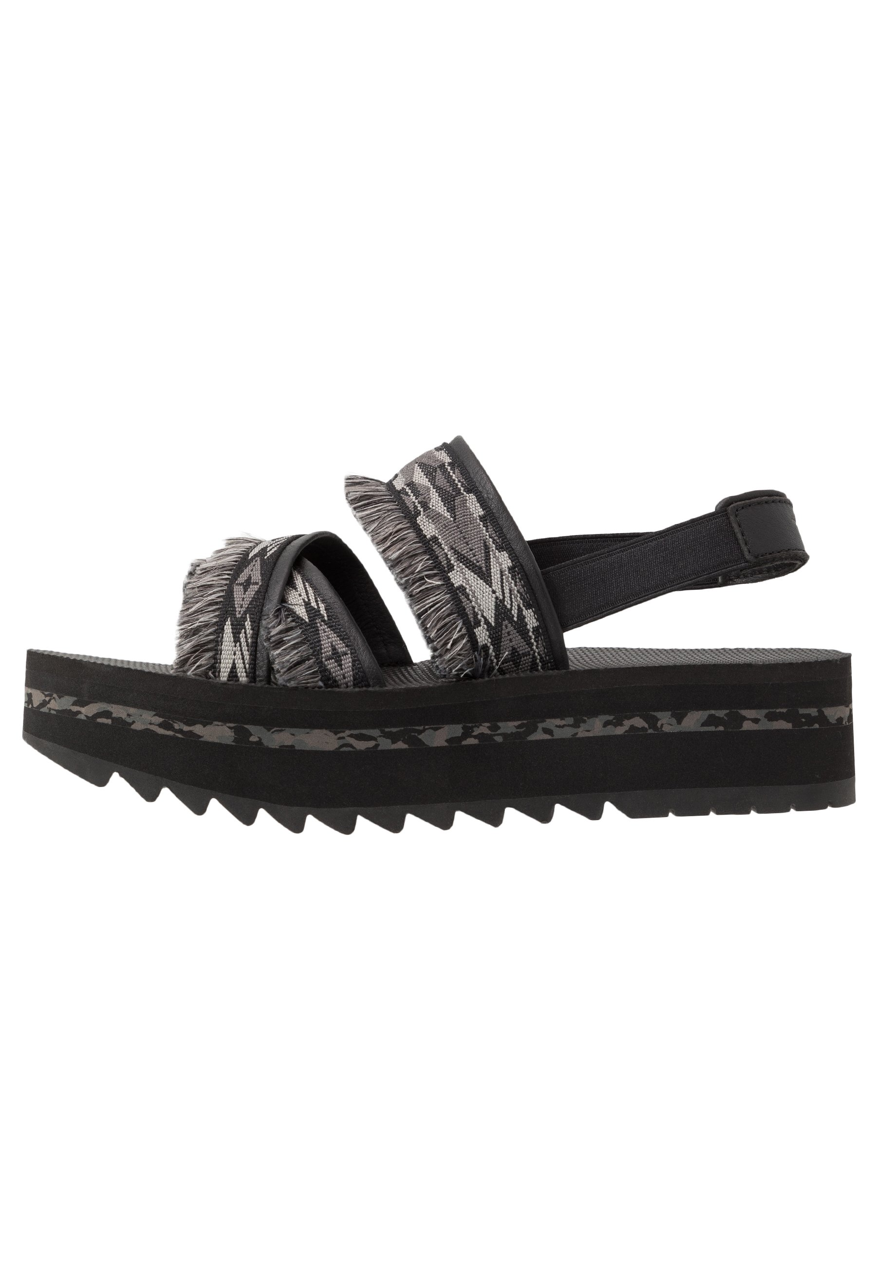 Teva Flatform Ceres Womens - Sandali Da Trekking Double Diamond Black Fs11h