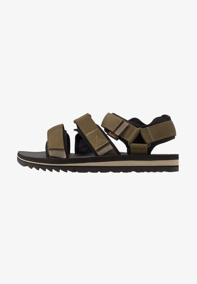 CROSS STRAP MENS - Chodecké sandály - dark olive