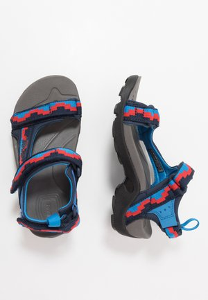 Walking sandals - blue/red