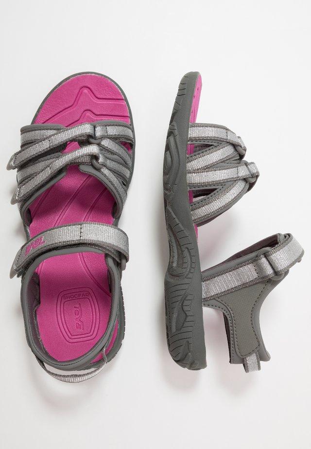 Chodecké sandály - silver/magenta