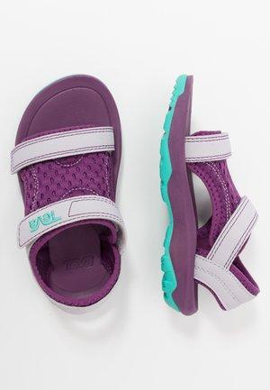 Walking sandals - gloxinia/iris