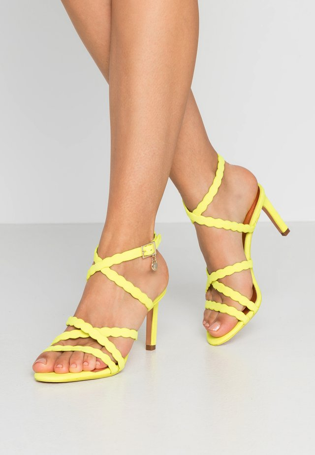 LILLYS - High heeled sandals - lime