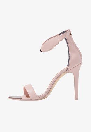 AURELIL - Sandalen met hoge hak - nude/pink