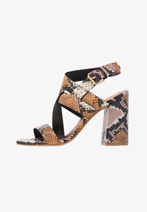 KASERAS - High heeled sandals - nude/pink