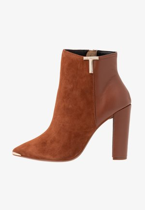INALA - High heeled ankle boots - tan