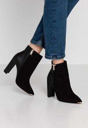 INALA - Kotníková obuv na vysokém podpatku - black