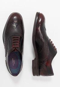 Ted Baker - Stringate eleganti - dark red - 1