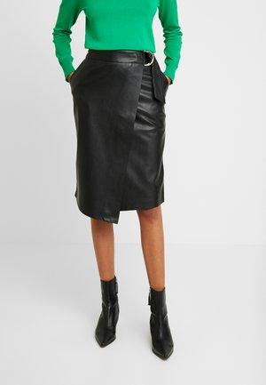 DYANAH - Wrap skirt - black